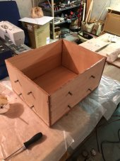 Box epoxied and screwed together.JPG